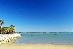 Pescherecci sulla spiaggia di Puerto reale a Cadice, Andalusia spain Immagini Stock