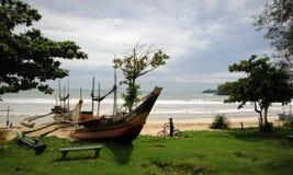 Pescherecci tradizionali sulla spiaggia Fotografia Stock