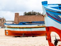 Pescherecci in Tunisia a Hammamet Fotografia Stock