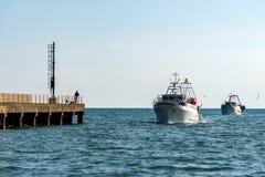 Peschereccio al porto Fotografia Stock