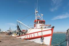 Peschereccio al porto a Laaiplek fotografia stock libera da diritti
