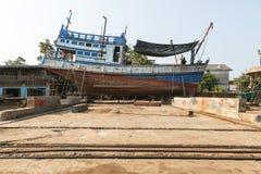 Peschereccio in cantiere navale Fotografie Stock