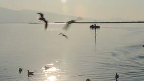 Peschereccio che va alla pesca a Smirne video d archivio