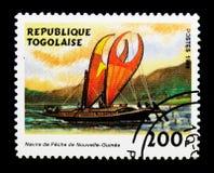 Peschereccio della Nuova Guinea, serie delle navi di navigazione, circa 1999 Immagini Stock