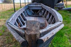 Peschereccio di legno decomposto fotografia stock