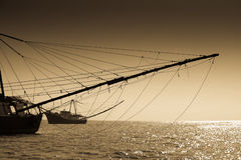 Peschereccio, mare del sud della Cina Fotografia Stock