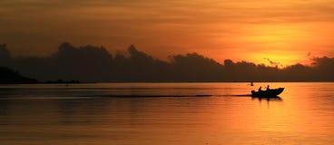 Peschereccio a Moorea, Polinesia francese Immagine Stock