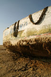 Peschereccio nel deserto Fotografie Stock