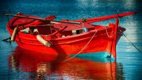 Peschereccio rosso Immagine Stock