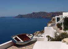 Peschereccio a Santorini Fotografia Stock