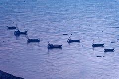 Peschereccio sporadico - paesaggio di Xiapu Fotografia Stock Libera da Diritti