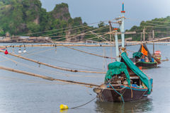 Peschereccio sul golfo del Siam Fotografia Stock Libera da Diritti
