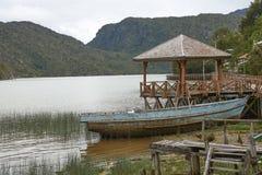 Peschereccio in Tortel, Patagonia, Cile Fotografie Stock Libere da Diritti