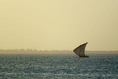Peschereccio a Zanzibar immagine stock