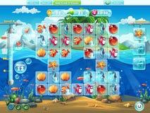 Peschi il campo da gioco del mondo per il gioco di computer o il web design Fotografia Stock