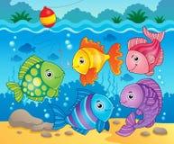 Immagine 6 di tema dei pesci Fotografie Stock