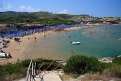 Peschici beach Stock Image