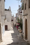 Peschici (Gargano, Puglia, Italy). A street of the old village Royalty Free Stock Photo