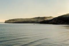 Peschici San Nicola zatoka Przy świtem Zdjęcie Stock