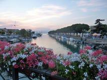 Peschiera湖视图,加尔达湖,意大利 免版税库存图片