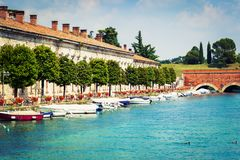Peschiera del Garda - fragment of the town royalty free stock photography
