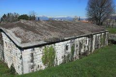 Fortress in Peschiera del Garda. Peschiera del Garda (Latin: Ardelica, Arilica and Ariolica), is a town and comune in the province of Verona, in Veneto, Italy Stock Photo