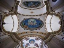 Peschiera Del Garda, October 01: Wide angle view on ceiling of San Martino church on October 01, 2017 in Peschiera Del Stock Photos