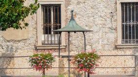 Peschiera Del Garda, Włochy Garda jezioro Starzy militarni budynki w centrum miasta zdjęcia royalty free