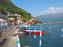 Free Peschiera Maraglio, Brescia, Italy. The Pier Of The Village On The Island Of Monte Isola Stock Photos - 116506173