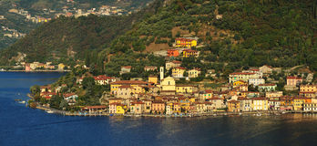 Peschiera town, Iseo lake Stock Photos