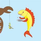 Pesci affamati Immagine Stock