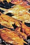 Pesci affumicati Fotografie Stock Libere da Diritti