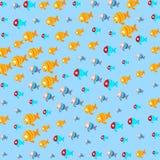 Pesci astratti nelle profondità del mare Immagine Stock Libera da Diritti