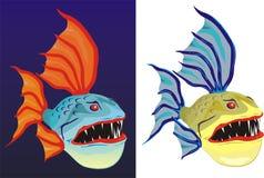 Pesci brutti e spaventosi Illustrazione Vettoriale