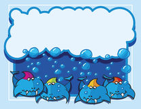 Pesci con le bolle Fotografie Stock