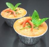 Pesci cotti a vapore con l'inserimento del curry Fotografia Stock Libera da Diritti
