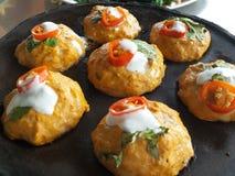 Pesci cotti a vapore con l'inserimento del curry Fotografie Stock Libere da Diritti
