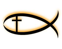 Pesci cristiani Fotografia Stock Libera da Diritti