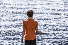 Pesci del ragazzo Immagini Stock Libere da Diritti