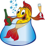 Pesci dell'oro illustrazione vettoriale