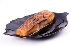Pesci della griglia (halibut) Fotografia Stock Libera da Diritti