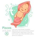 Pesci dello zodiaco del bambino Fotografie Stock