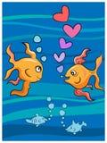 Pesci di amore Fotografie Stock Libere da Diritti