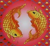Pesci di carta Immagini Stock Libere da Diritti