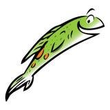 Pesci di color salmone di salto illustrazione di stock