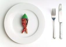 Pesci di dieta per il pranzo Fotografia Stock Libera da Diritti