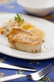 Pesci di merluzzo cucinati Fotografie Stock