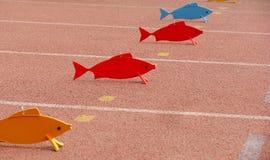 Pesci di plastica Fotografie Stock Libere da Diritti