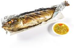 Pesci di Saba cotti immagine stock