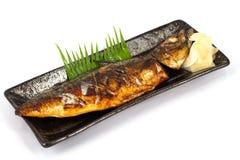 Pesci di saba dell'alimento del Giappone Fotografie Stock